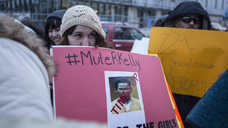 """Mute R. Kelly""-Demonstration in Michigan, USA"